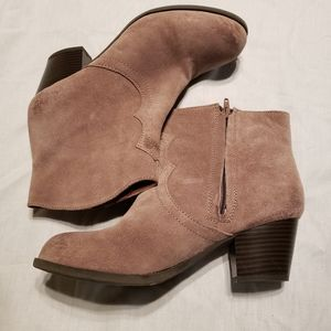 Lucky Brand suede leather Tablita boots size 8 New
